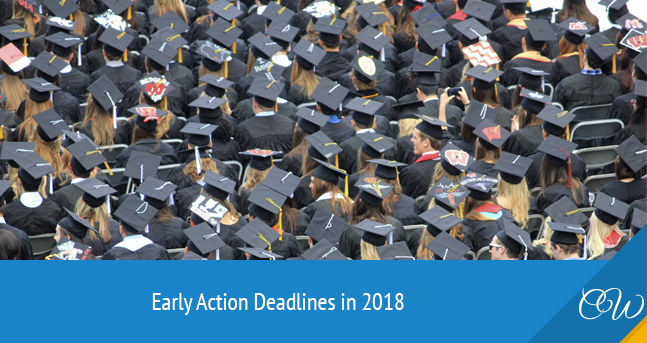 Early Action Deadlines in 2018